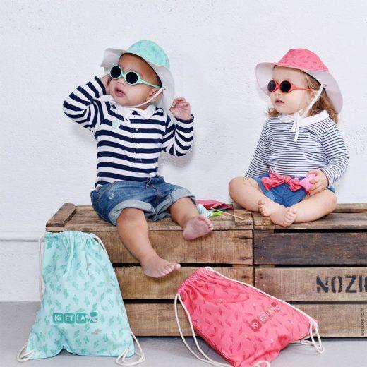 KiETLa Σετ Καπέλo+Γυαλιά Sunset+Τσάντα θαλάσσης