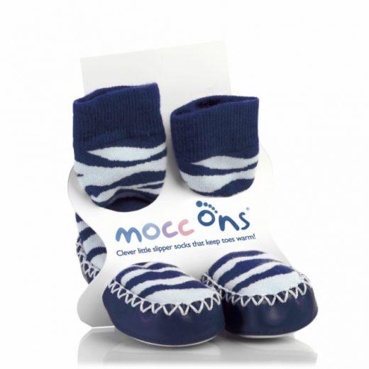 Καλτσοπάπουτσα Moccons Zebra