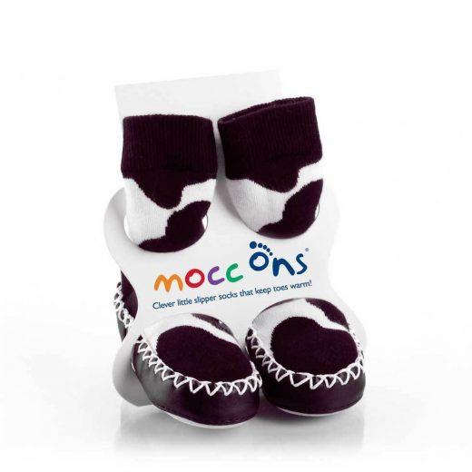 Καλτσοπάπουτσα Moccons Cow