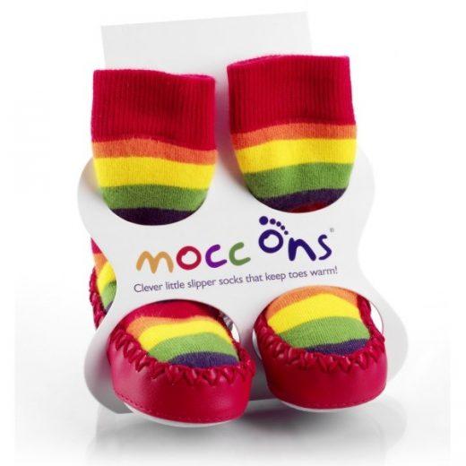 Καλτσοπάπουτσα Moccons Rainbow