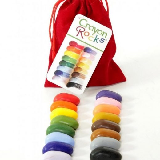 Crayon Rocks, 16 Rocks in red velvet bag