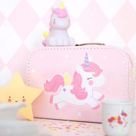 A Little Lovely Company Βαλίτσα: Unicorn