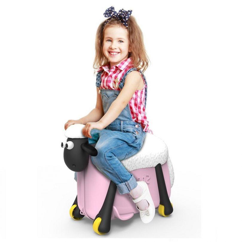 Παιχνιδόκουτο Βαλίτσα Περπατούρα Σών το πρόβατο Ροζ