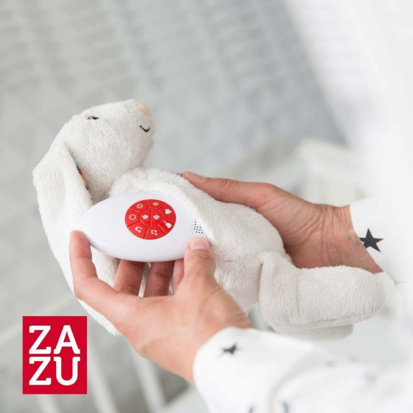 BIBI Λαγουδάκι νανουρίσματος με χτύπο καρδιάς & λευκούς ήχους ZAZU_984