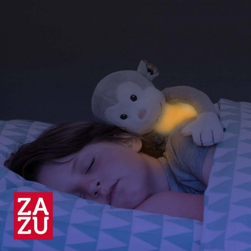 Max Μαϊμουδάκι με φωτάκι νυκτός νανουρίσματος λευκών ήχων ΖAZU